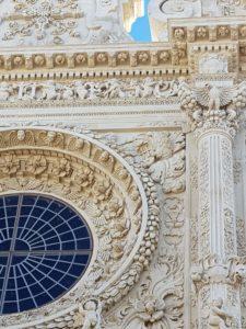 Puglia Italy tour landscape Lecce Santa Croce baroque facade detail