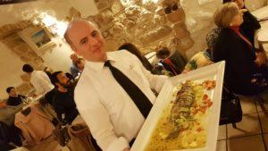 Puglia Italy tour tasting landscape restaurant polignano fish seabass