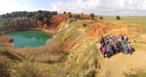 Puglia Italy tour landscape Otranto bauxite lake students group